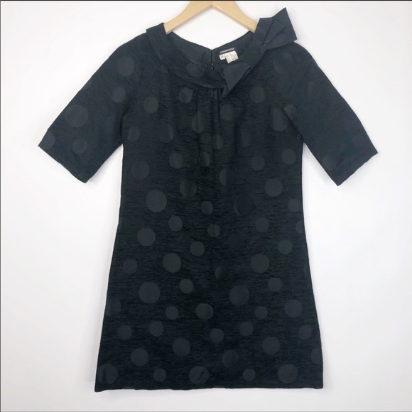 Conspicuous Black Polka Dot Tapestry Dress